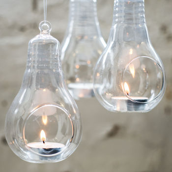 Glass Lightbulb Hanging Vase