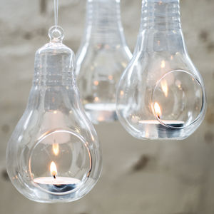Glass Lightbulb Hanging Vase - vases
