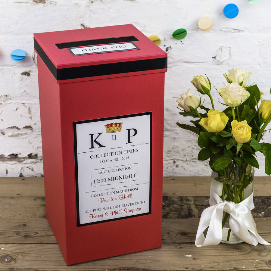 personalised wedding post box by dreams to reality design ltd ...
