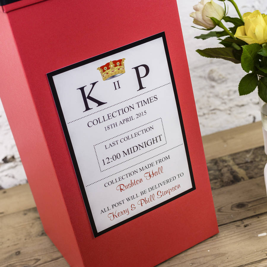 Post Wedding Gifts: Personalised Wedding Post Box By Dreams To Reality Design