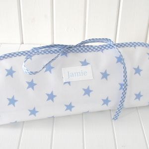 Personalised Baby Oilcloth Changing Mat