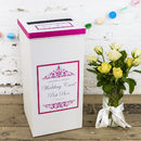 Personalised Leah Wedding Post Box