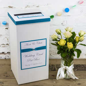 Personalised Crystal Heart Wedding Post Box
