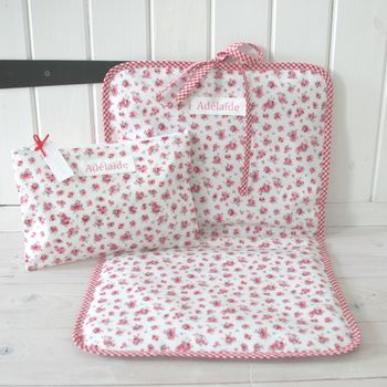 Personalised Baby Changing Bag And Changing Mat