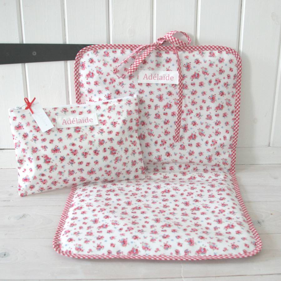 Lucy Lilybet Personalised Baby Changing Bag And Changing Mat