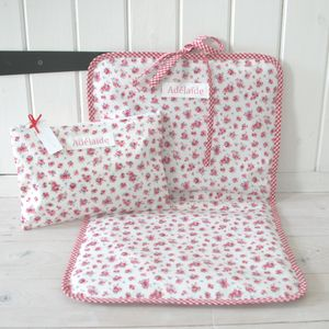 Personalised Baby Changing Bag And Changing Mat - baby changing
