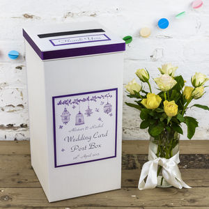 Personalised Heidi Wedding Post Box
