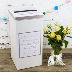 Personalised Lucy Wedding Post Box