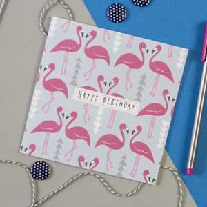 Flamingo Flourish Birthday Card