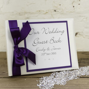 Personalised Classic Wedding Guest Book