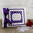 Personalised Dotty Wedding Guest Book