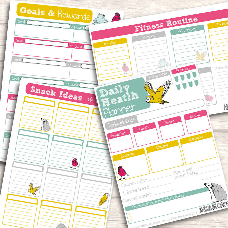 photo regarding Fitness Planner Printable named Printable Physical fitness And Exercise Planner, 40 Web pages