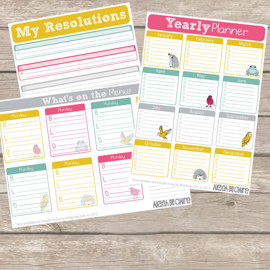 printable new year new you planner 20 pages by alexia claire