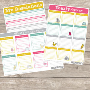 Printable New Year, New You Planner, 20 Pages - 2015 calendars & diaries