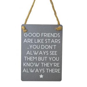Mini Good Friends Metal Sign
