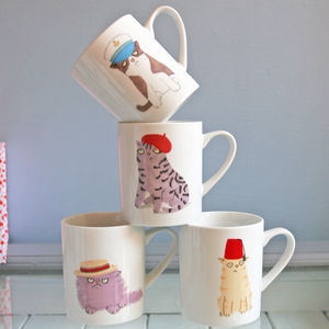 Cats And Hats Mugs