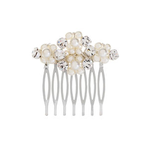 Alma Crystal And Pearl Bridal Comb - jewellery