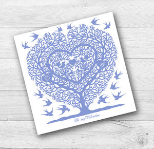 Personalised Love Birds Engagement Or Anniversary Card
