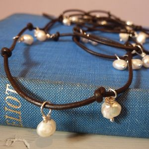 Freshwater Pearl Wrap - necklaces & pendants