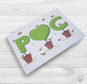 Personalised Topiary Initials And Heart Card - wedding cards