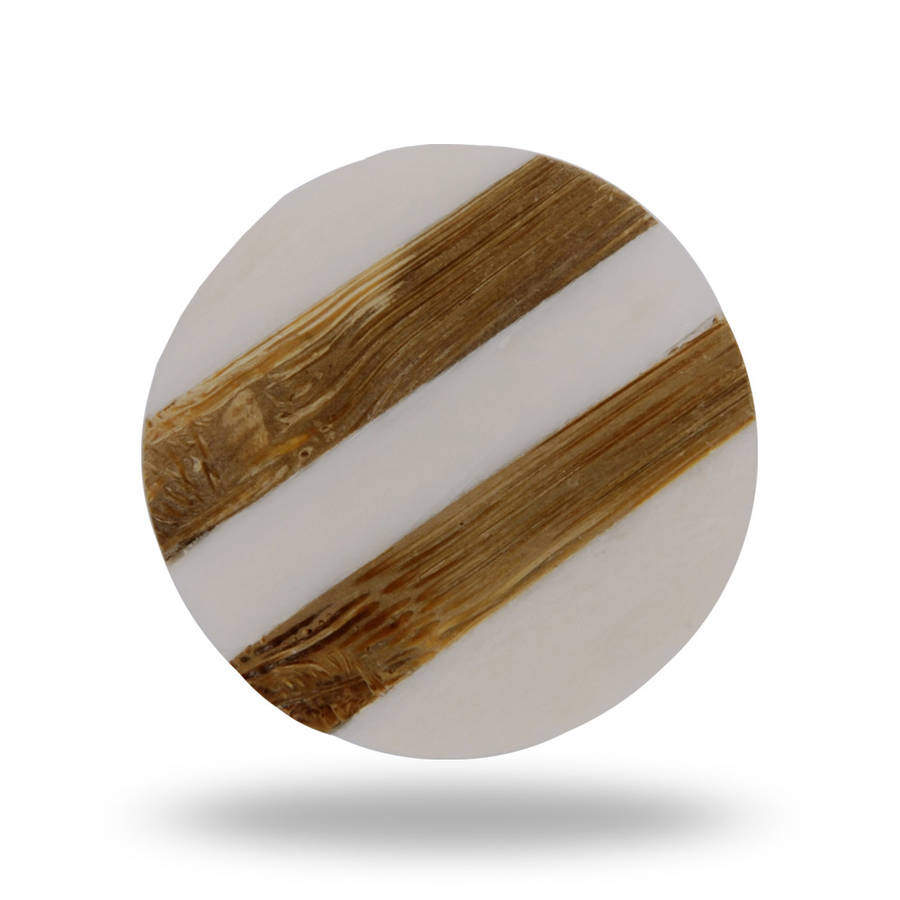 Striped Round Bone Knob