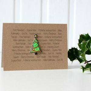 World Languages 'Merry Christmas' Tree Card - cards & wrap