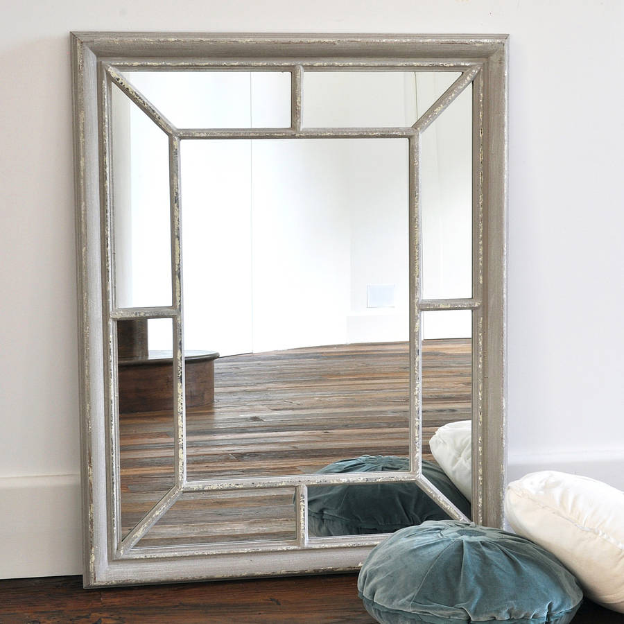 antique grey panelled mirror by primrose & plum | notonthehighstreet.com