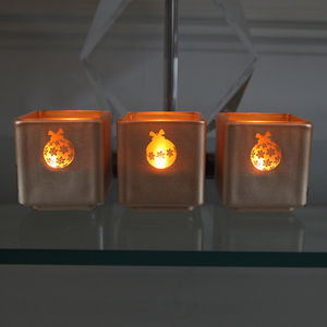 Christmas Bauble Tealight Holders Set