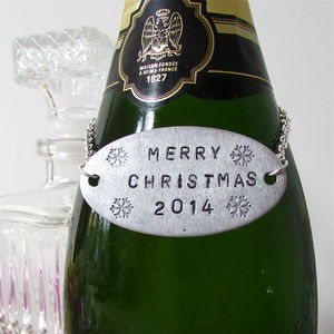 Personalised Christmas Bottle Tag - food gifts