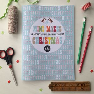 Mini Makes Countdown To Christmas Craft Activity Book - pretend play & dressing up