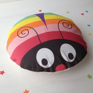 Children's Rainbow Bug Cushion - children's room accessories