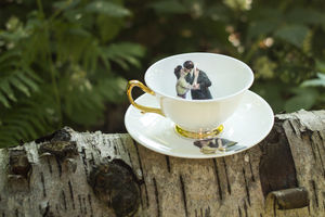 Kissing Couple Teacup And Saucer - home