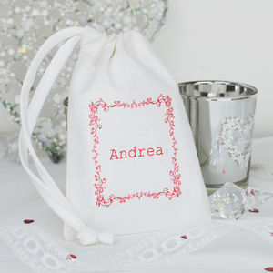 Personalised Christmas Table Gift Bag - table decorations