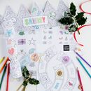 Personalised Christmas Activity Kit