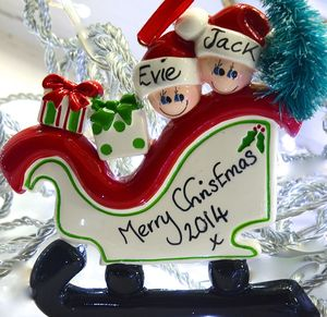 Personalised Family Christmas Tree Decoration - tree decorations