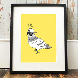 'Coo' Pigeon Print - posters & prints