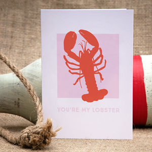 'You're My Lobster' Card - wedding cards