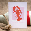 'You're My Lobster' Card
