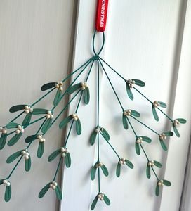 Green Metal Mistletoe - summer sale