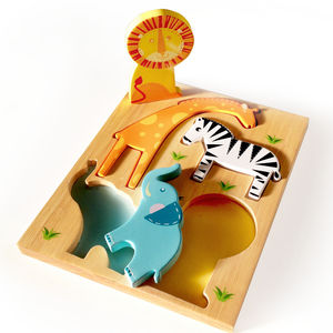 Two In One Safari Puzzle - toys & games