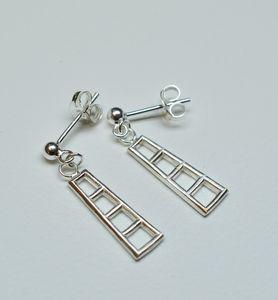 Silver Four Tier Drop Earrings