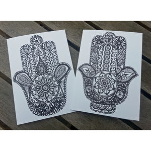 Hamsa Greetings Cards - all purpose cards, postcards & notelets