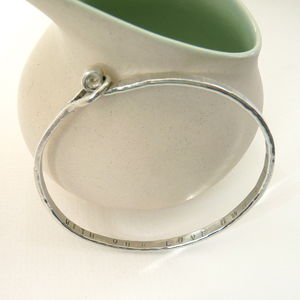 Hand Forged Bangle - bracelets & bangles