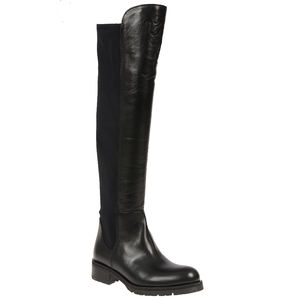 Black Over The Knee Flat Boot