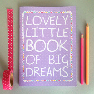 'Big Dreams' Girl's Notebook - shop by personality