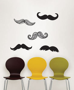 Moustache Wall Stickers - office & study