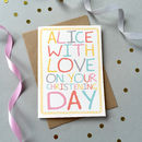 Christening And Naming Day Cards