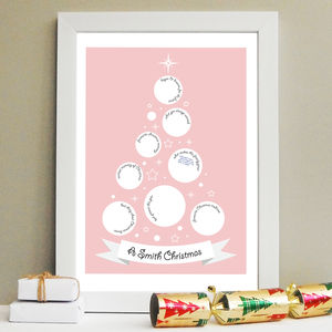 Christmas Tree Guestbook Print