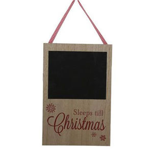 Sleeps Til Christmas Wooden Chalkboard - christmas home accessories