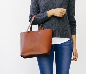 Ellie Leather Tote - shoulder bags